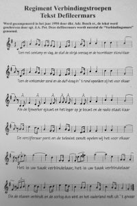 Verbindingsmars Bladmuziek